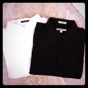 2 Express button up long sleeve shirt